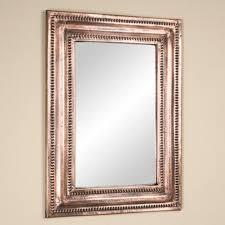 copper bathroom mirrors rectangular lightly hammered copper mirror antique copper bathroom