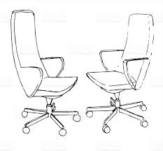 Office Chair Vector Side View Interesting Office Chair Drawing Sofa Vector Sketch Throughout