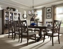 trisha yearwood trestle table chairs u0026 china cabinet 920 102