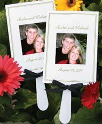 wedding fans favors personalized photo fan favors 48 pcs palm and bamboo fans