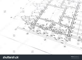 blueprint floor plans engineering architecture drawings stock