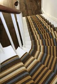 Stairs Rugs Stair Rugs Stripe Stair Runner Installation By Colony Rug Rug