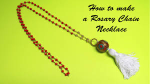 how to make a rosary how to make a rosary chain necklace