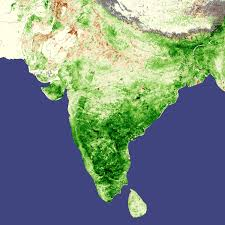 India Regions Map by Record Crops In India Natural Hazards