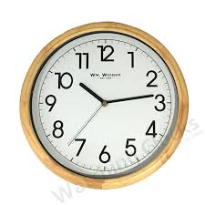traditional wm widdop napoli wooden wall clock