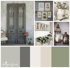 Grey And Green Kitchen Rustic Vintage Color Palette Weathered Wrought Iron With Accents