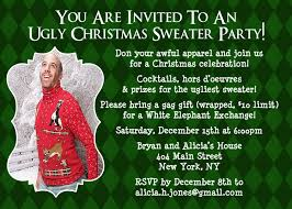ugly sweater invitation christmas party invite ugly sweater