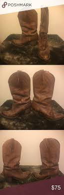 vintage cowboy boot l vintage frye brown leather cowboy boots cowboy boots brown