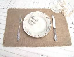 table setting placemat burlap wedding table setting rustic placemat table topper hessian