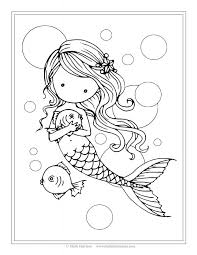beautiful mermaid coloring pages kids barbie colouring print