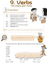 good grammar grade 3 grammar lesson 9 verbs u2013 the simple past tense