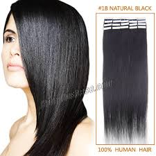 Ombre Hair Extensions Tape In by Inch 1b Natural Black Tape In Human Hair Extensions 20pcs