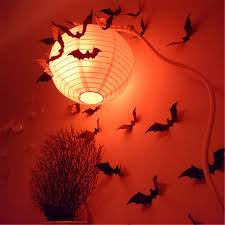halloween wall stickers 12pcs halloween 3d black bat wall sticker halloween party home