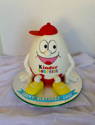 kinder surprise egg shaped birthday cake birthday cake design