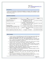 Sample Resume For Design Engineer by Inspiring Sheet Metal Design Engineer Resume 85 About Remodel