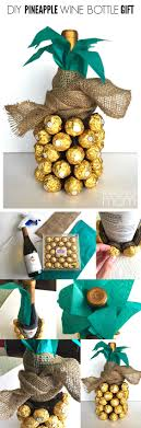 wine birthday gifts pineapple wine bottle gift tutorial