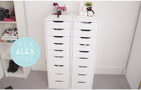 Ikea Alex Cabinet 7 Ikea Inspired Diy Makeup Storage Ideas