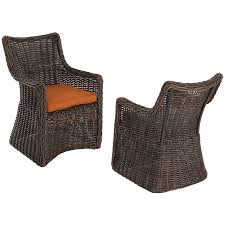 Lowes Allen And Roth Outdoor Furniture - shop allen roth set of 2 wicker patio dining chairs with solid
