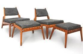 1960 Danish Modern Furniture by Scandinavian Modern Pair Of Lounge Chairs With Ottoman Circa 1960