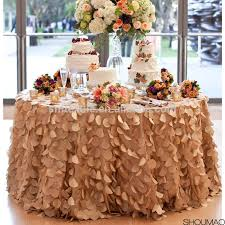 Wholesale Wedding Linens Wholesale Wedding Ivory Tablecloth Banquet Party Petal Tablecloth