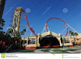 Map Universal Studios Hollywood Hollywood Rip Ride Rockit At Universal Studios Editorial