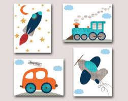 Car Nursery Decor Plane Car Etsy