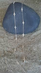 long silver crystal necklace images Swarovski crystal long necklace silver chain bezel crystal 36 jpg