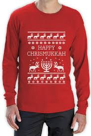 hanukkah t shirt happy chrismukkah hanukkah sweater sleeve t