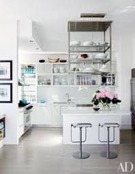 Kitchen Metal Shelves by Hanging Kitchen Shelves Suspended From Ceiling Contemporary