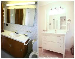 double sink vanity ikea thrifty bathroom makeover with an ikea hemnes vanity the happy ikea