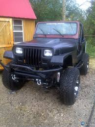 blacked out jeep franken yj