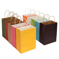 15 21 8cm paper gift packaging bag shopping multicolor wedding