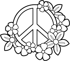 coloring pages coloring pages for peace sign coloringstar