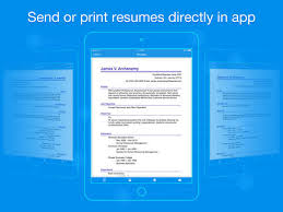 Quick Resume Builder The Best Iphone Apps For Resumes Apppicker