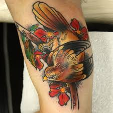 Flower And Bird Tattoo - 100 perfect bird tattoo designs and ideas to feel the flight