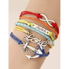 anchor braid bracelet images Anchor id braid layered strand bracelet jpg
