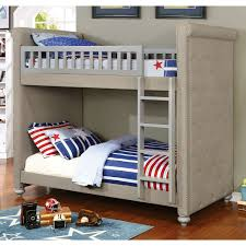 Bunk Bed Furniture Store Buy Grey Padded Bunk Bed Furniture Store