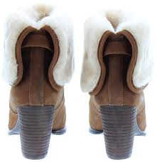 ugg s layna boots black ugg layna fur top boots in chestnut