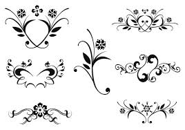 floral ornaments vector pack two free vector stock
