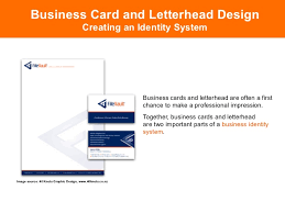 Parts Of Business Card Letterhead Business Cards Designing Corporate Identity Collateral