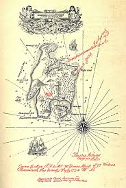 Book Map Treasure Island Map Of The Island