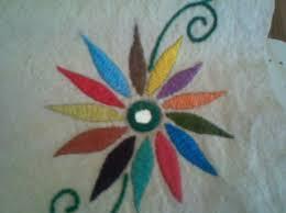 Fish Bone Stitch Embroidery Tutorials A Design In Chain Stitch Variation Kutch Kantha Other