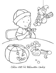 caillou coloring pages halloween coloringstar