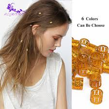hair rings buy images Buy high quality 100 5 pcs lot gold hair beads jpg