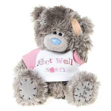 get well soon teddy tatty teddy get well soon bouquet florist in sheffield
