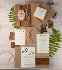 wooden wedding invitations rustic wedding invitation 20 real wood invitation engraved