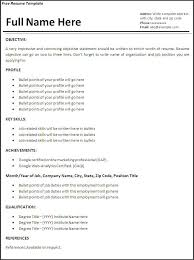 Example Resume Template Sample Resume Templates 17 Nardellidesign Com