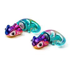 front and back earrings s rainbow metallic chameleon front and back earrings adorable