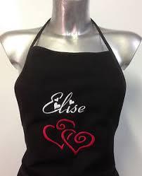 tablier cuisine personnalisé tablier cuisine broderie personnalise nom motif ebay