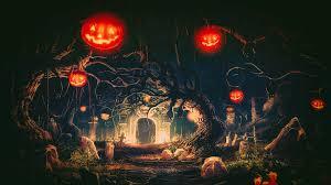 halloween desk background halloween terror night fantasy art photoshop artwork pumpkin